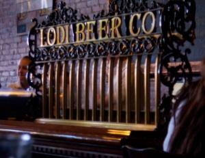 Lodi Beer Company's vintage looking tap handles.