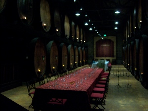 Merryvale's cask room.